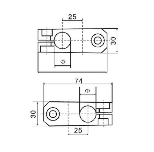 Cross Block for 12mm Shaft