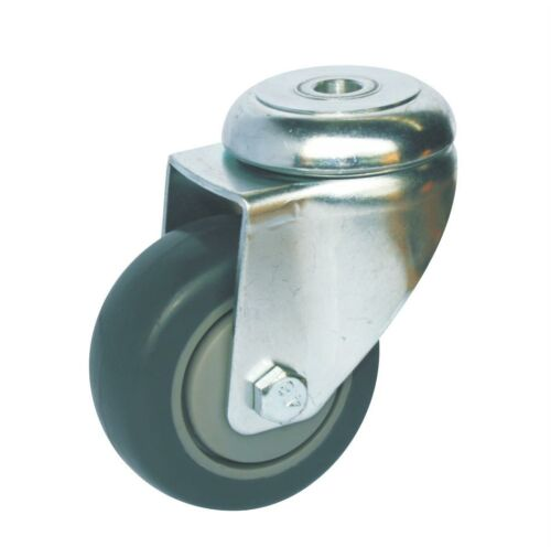 Bolt Hole Fitting Castor Black - 75mm - Accessories - OnEquip