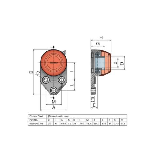 Movex UCFA 205 - Open - 25mm