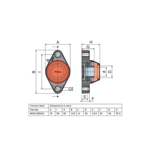 Movex UCFL 205/90 - Closed - 25mm