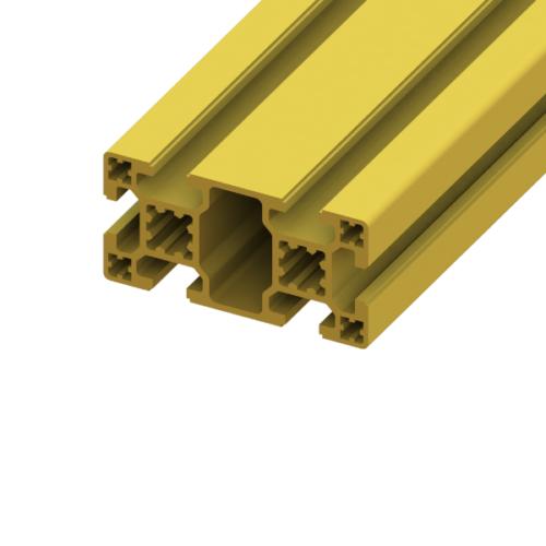 40 x 80 SlotPro 4 Slot Standard Extrusion Powder Coated Yellow