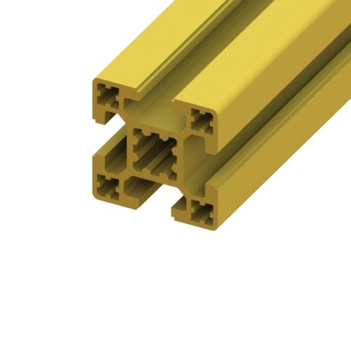 40 x 40 SlotPro 4 Slot Standard Extrusion Powder Coated Yellow