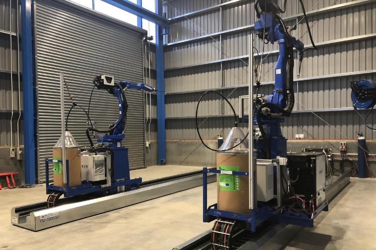 Yaskawa Autoline Twin Robot Welding Cell